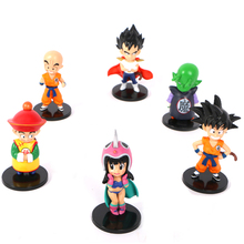 Hoge kwaliteit 6 stks/set <span class=keywords><strong>Dragon</strong></span> <span class=keywords><strong>Ball</strong></span> <span class=keywords><strong>Z</strong></span> Son Goku Gohan Vegeta PVC Action Figure voor kid
