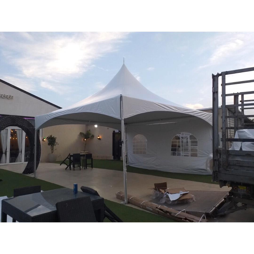 Blanc 20x20 Tente Chapiteau pour Location sur Offre Spéciale