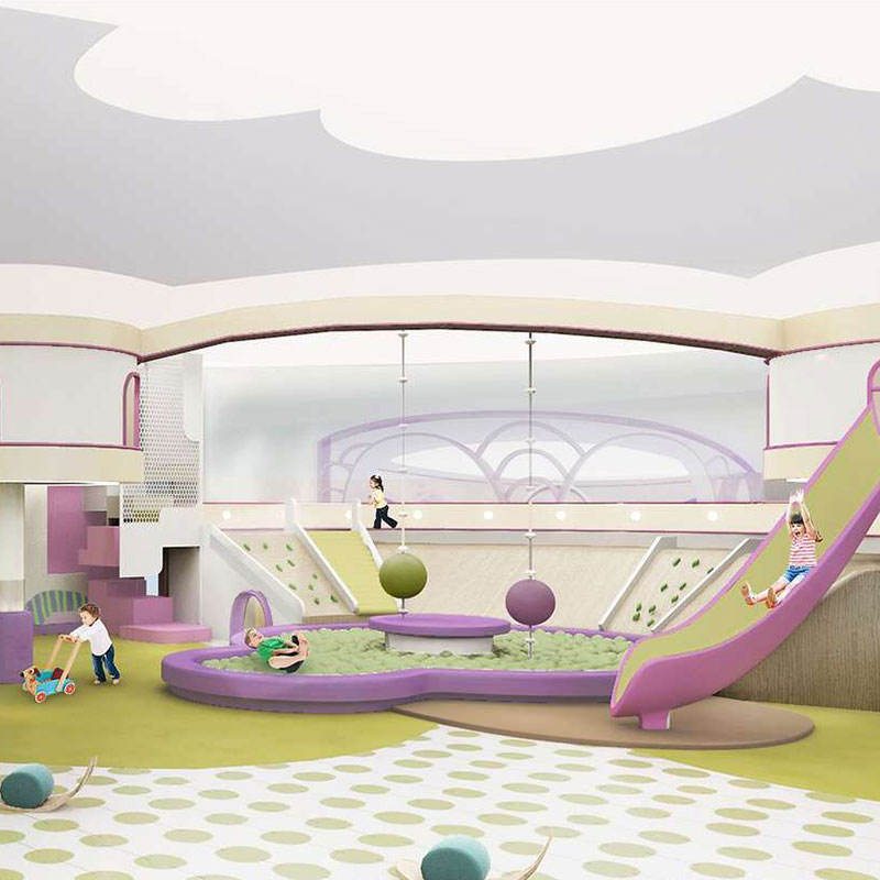 Kids Pretend Play Amusement Center Custom Themed Indoor Playground for Children