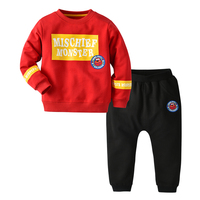 Autumn pullover and trouser 2 pieces clothing cotton10 year fall winter kids clothing boys set