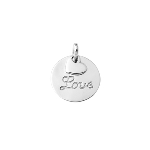 Classic Custom Name Fashion Couple Love Rhodium Plated Pendant