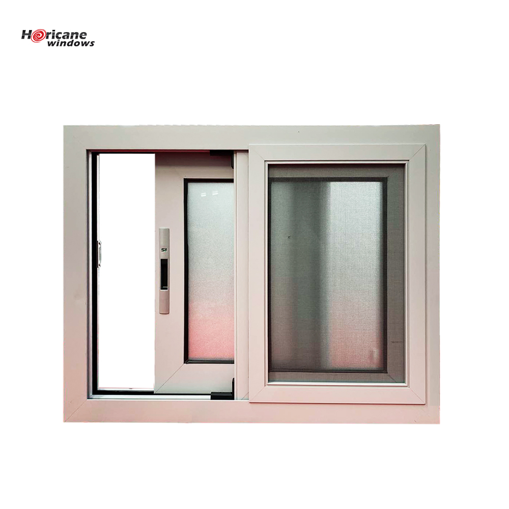 Florida Miami-Dade Hurricane approved aluminium black frame double commercial sliding glass hurricane proof windows and doors
