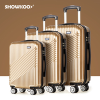 Custom 3 pcs handle pp suitcase 4 wheels travel cases travelling bags luggage sets carry-on trolley bag