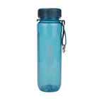 Office 500ml sport water plastic bottle with times to drink