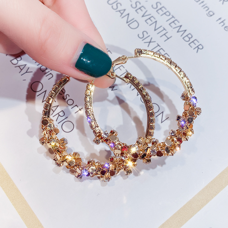 cubic zirconia heart huggie rhinestone hoop earrings large 14k gold filled plated big crystal charm hoop earrings hoops  women