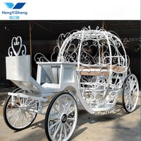Electric vehicle pumpkin horse wagon for Wedding Decoration