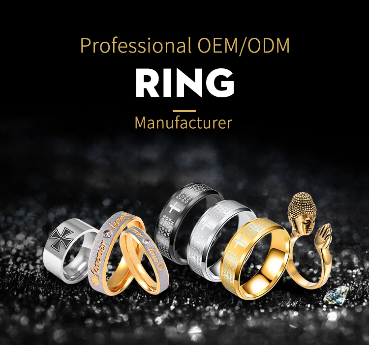 Shuanghua factory provide wholesale metal Buddha finger ring