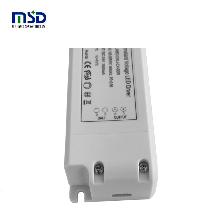 White Case AC 220V 230V to DC power supply dali dimmable led driver 30w dc 12V 24V LED transformer with 5 years warranty