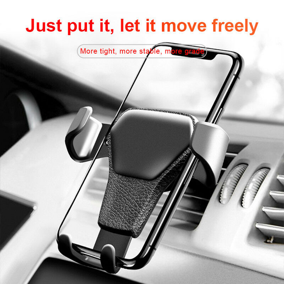 High Grade Universal Gravity Air Vent Car Phone Holder Mount Cradle Stands for iPhone Mobile Cell Phone GPS Smartphone Holder