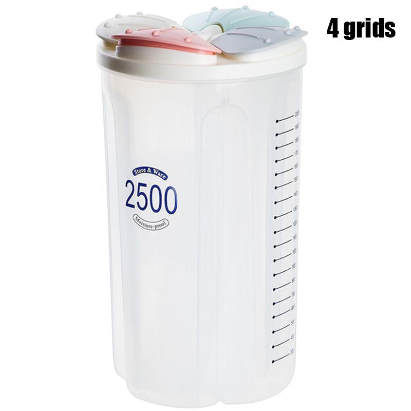Здоровые контейнеры зерновые зерна сухая Емкость для хранения пищи Прозрачная крышка Пластиковый Чехол BJStore(Китай)