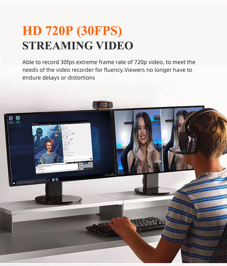 Hd Full Webcam Pc Computer Usb Camera Webcam 720 P 1080 P 360 Graden Flexibele Camera Mini Webcam Met Microfoon
