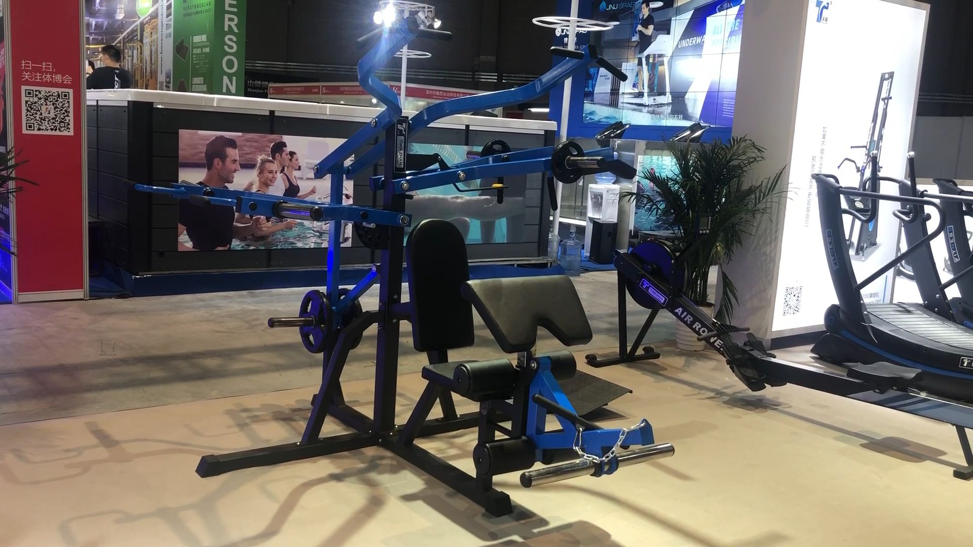 Multi functional bench home exercise fitness equipment 3 station multi gym popular machine