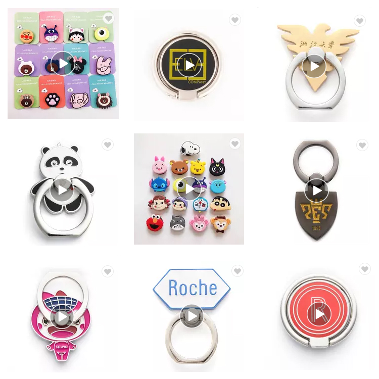 Free face mask for order of Wholesale factory custom cell phone ring holder for mobile phone,360 rotation phone ring