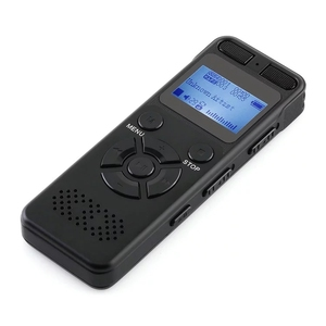 V32 Digital Voice Activated Recorder 1536Kbps Audio Recorder Dictaphone for Lecture Meeting Interview Double Stereo Microphone