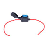 Auto Inline ATO PVC Waterproof Blade Car Max 40 Amp Fuses 32V Medium Fuse Holder With Black Cover