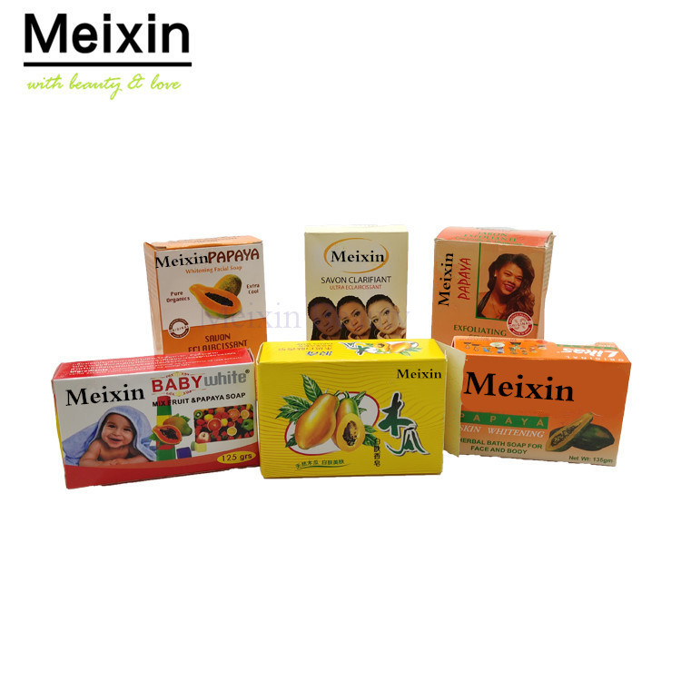 Private Label Organic Skin Lightening Soap Whitening Bath Papaya Kojic Acid Soap