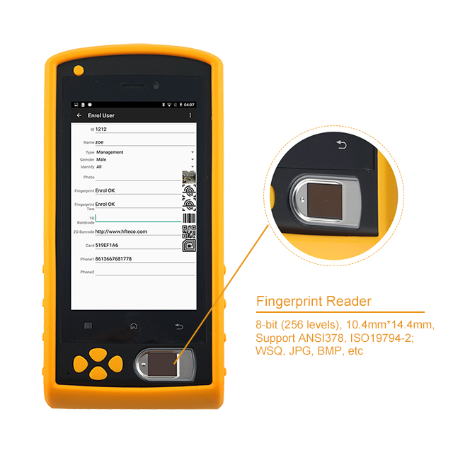 HF-FP05 With SDK Portable SIM Card Biometric Machine Finger Scanner Time Attendance