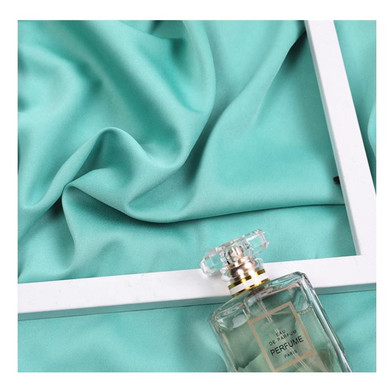 Danlu fabricante 100% poliéster de Diseño de Moda de color mate de satén stretch tela para vestido de Dama