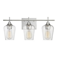 New Bathroom Vanity Light Wholesale Hotel Modern 3 Light Wall Light Indoor With Clear Glass Shade