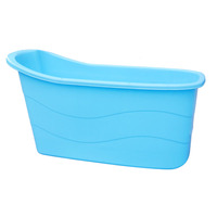 121*56*68 Plastic Free Standing Folding Bath Tub for Adults
