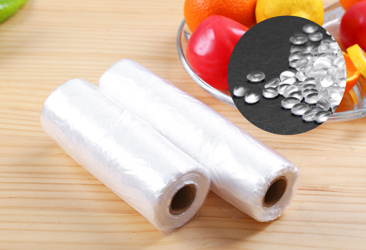 Insulated transparent printed plastic packaging bag roll food delivery bags