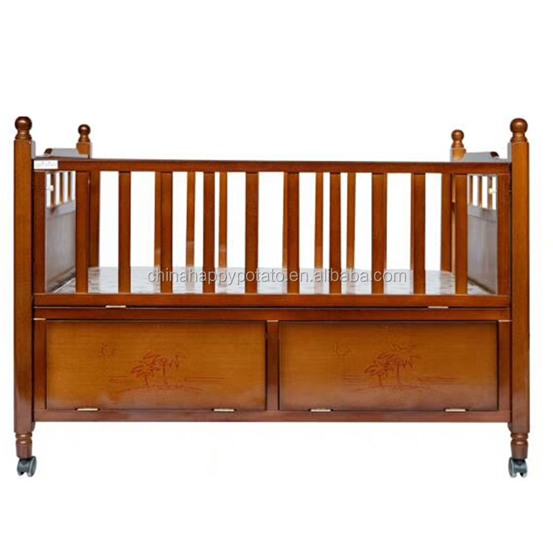 comfortable Products pine wood baby crib Baby Bedroom Furniture