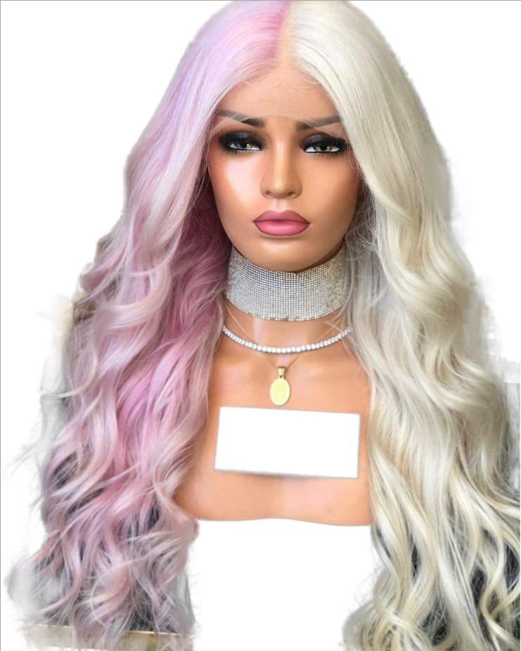Grossiste Blanc Long Cheveux Boucles Perruques Acheter Les