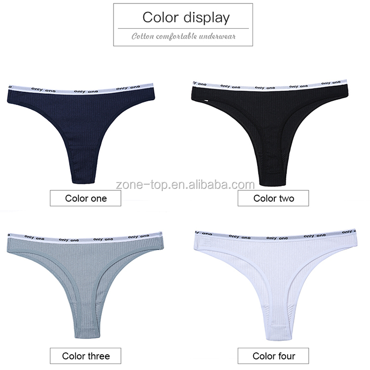 Women's Cotton G-String Thong Panties String Underwear Women Briefs Sexy Lingerie Pants Intimate Ladies Letter Low-Rise Panties