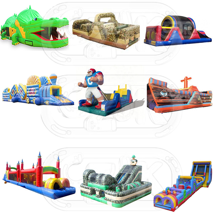 kid adult Commercial game equipment china inflatable obstacle course for sale