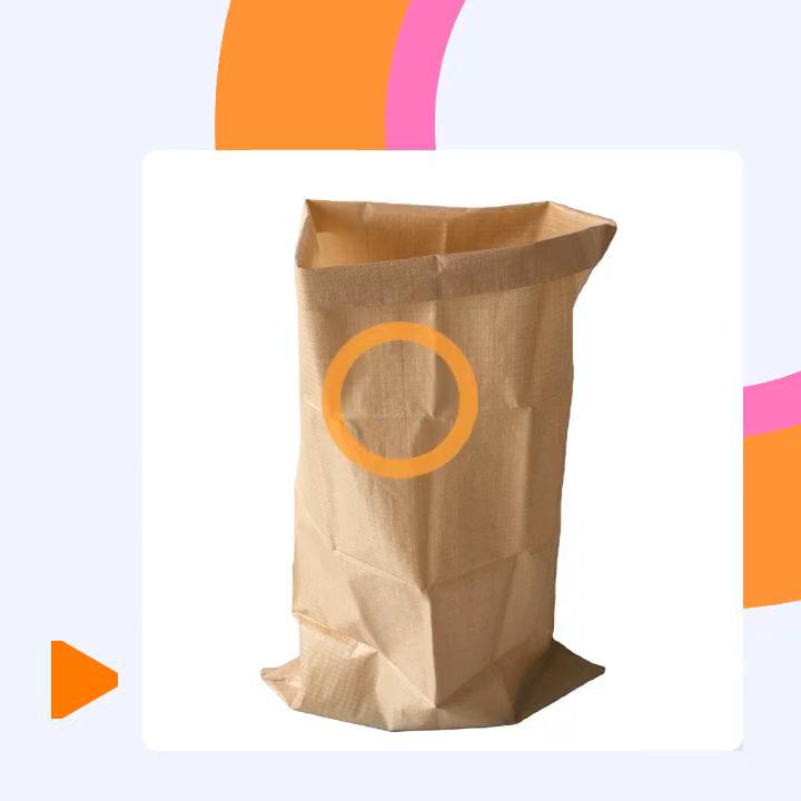 Tasche Sack Pp woven Custom Top Angepasst Industrielle Oberfläche Verpackung Falten Lebensmittel Landwirtschaft Kunststoff verpackung tasche sack