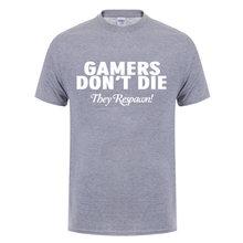 Веселая футболка с надписью «Don't Die We Respawn», подарок на день рождения для мужчин, мужчин, друзей, братьев, лучших друзей, фанатов игр, хлопковая...(Китай)