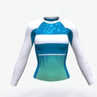 Tonton Sportswear Lycra Custom Printed Womens Rash Guard Long Sleeve