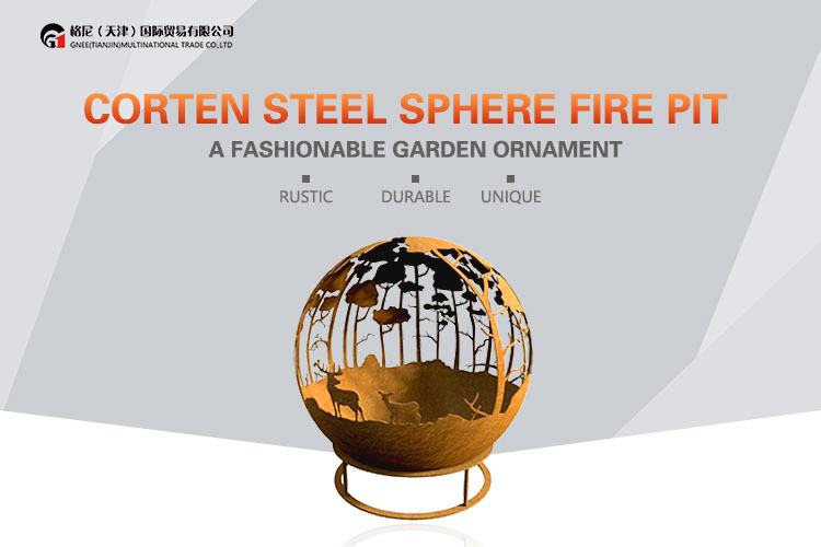 New Design Burner Outdoor For Backyard Use Corten Steel Firepit