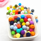Baby Bpa Free Food Grade Teether Teething Loose Soft Wholesale 12mm Silicone Beads