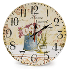 Rustic Country Style Wooden Decor Round Wall Clock