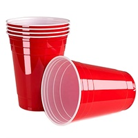 Factory directly sale various sizes bpa free plastic disposable beer pong party 16oz cold drink red wine cups