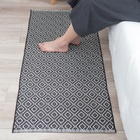 Nordic decoration home flat woven rug eco-friendly diamond carpet entrance front door mat reversible