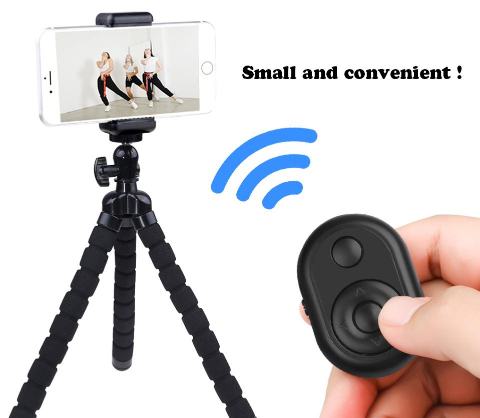 Selfie stick tripod bluetooth camera remote shutter for smartphones remote control