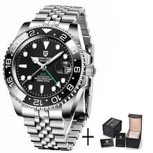 Часы PAGANI DESIGN с сапфировым стеклом, 40 мм, керамические, GMT, 100 м, водонепроницаемые, Классические, модные, Роскошные автоматические часы(Китай)