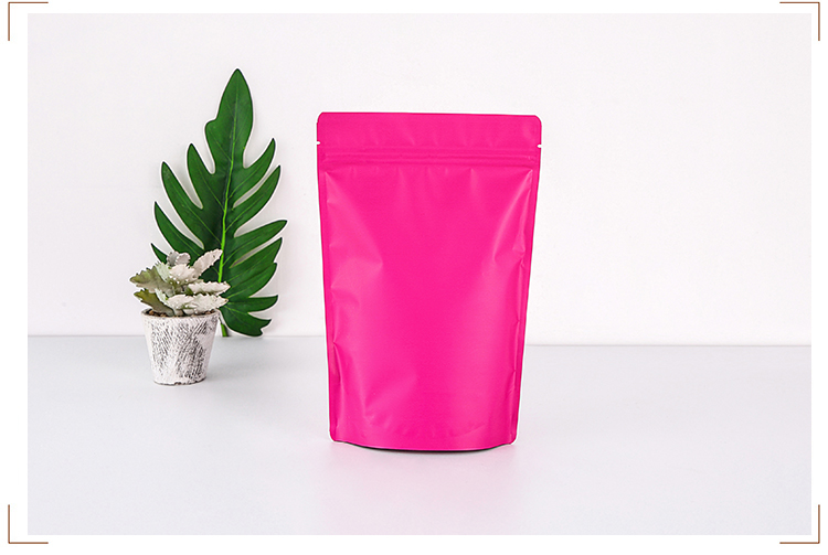 luxury zip lock matte  foil stand up bag pouch