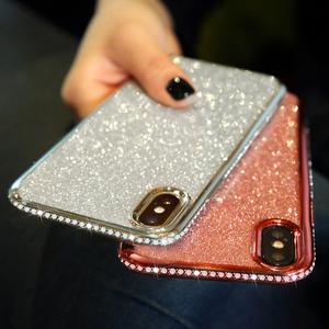 Soft TPU Cover Shiny Bling Diamond Glitter Case for Samsung A10 A20 A20E A30 A30S A40 A50 A50S A70 S8 S9 S10 5G Note 10 Plus 9 8