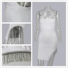 Женский комплект из двух предметов NATTEMAID, Белый Топ и длинная юбка с кисточками и цепочкой, летний комплект с женский комплект 2 шт.(Китай)