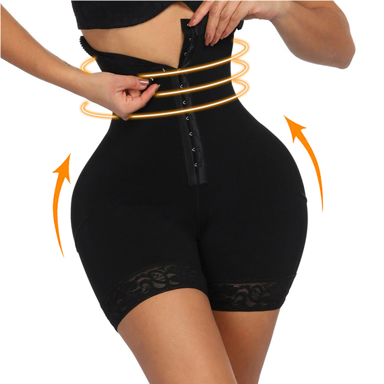 Drop Shipping High-waist Compression Girdle <strong>Women</strong> <strong>Bodysuit</strong> Plus Size Shapewear Hollow Butt Lifter Shorts Panties