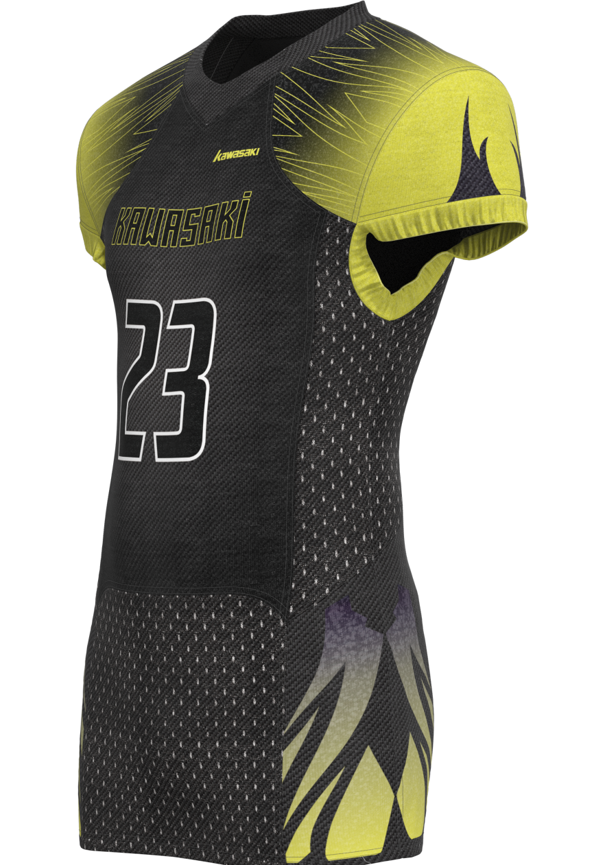 Black and yellow sublimation american football jersey set designer custom fabric