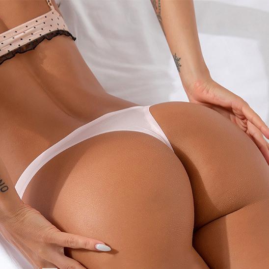 נשים סקסי תחתוני מוצק צבע חלקה תחתונים חצופים רגיל באיכות גבוהה קרח משי G מחרוזת Thong