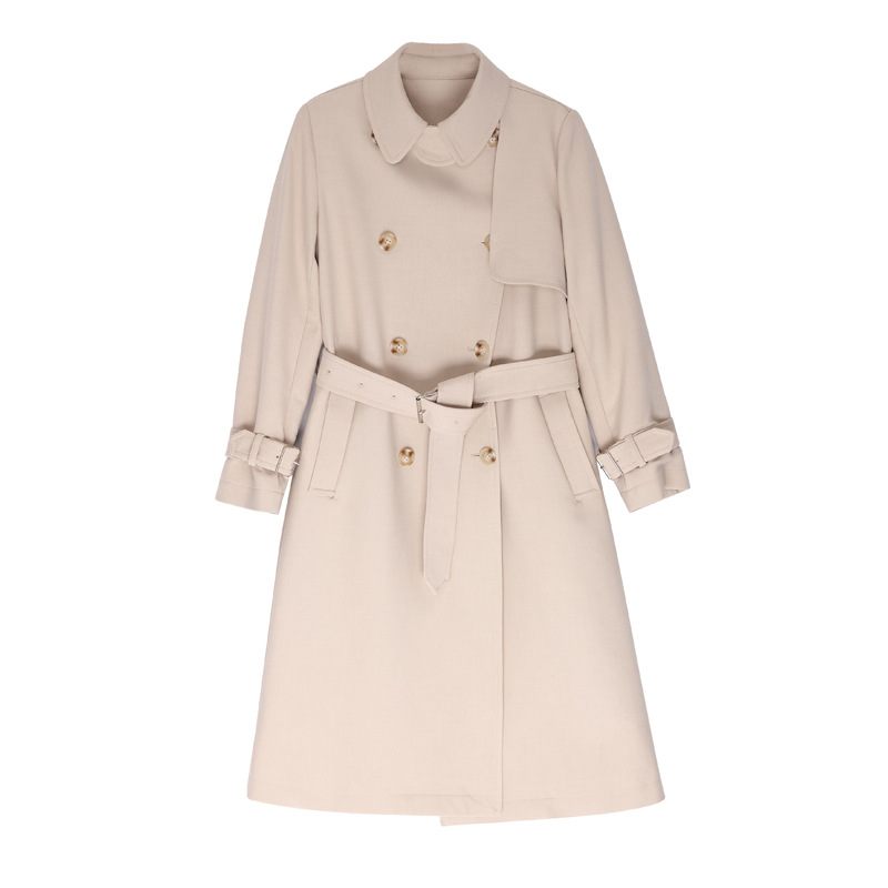 2019 Autumn new ladies <strong>women</strong> lapel beige elegant long <strong>trench</strong> <strong>coats</strong> <strong>for</strong> <strong>women</strong> ladies