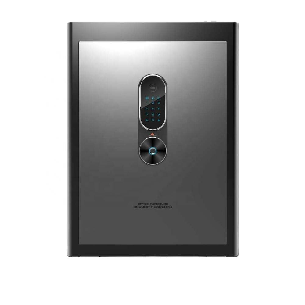 OUBAO laser cutting biometric fingerprint hidden mini electronic home cash drawer tray safe small office bank hotel safe box