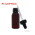 60ml Plastic Cosmetic Essential Oil black amber dropper bottle with scale