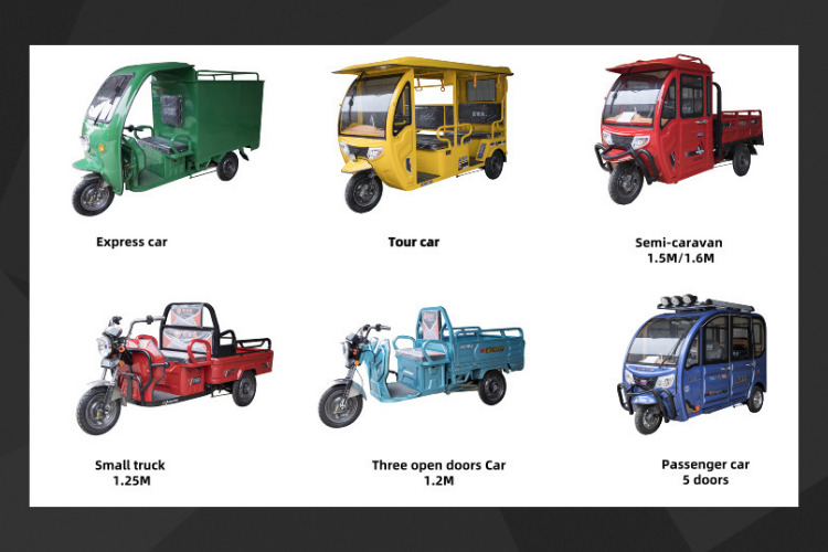 Veicoli elettrici per disabili 3 ruote auto elettrica triciclo elettrico per adulti