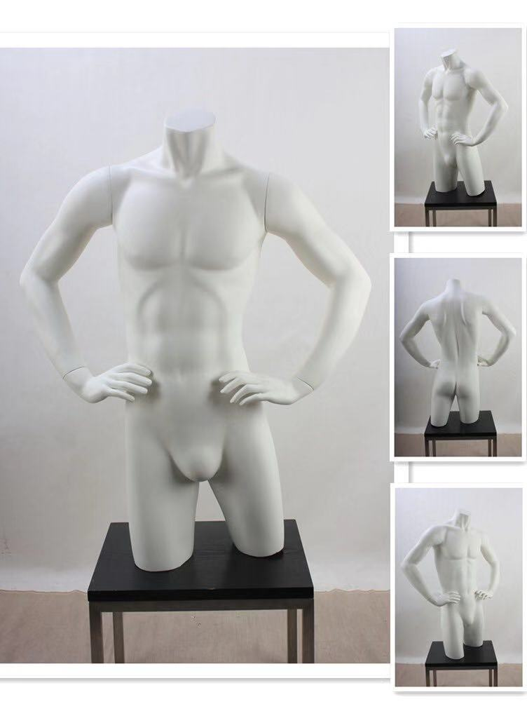New product fashion half body male fiberglass mannequin  for clothing shop